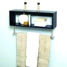 bathroom shelf with towel bar wood bathroom shelf with towel bar bathroom shelves wood shelf towel
