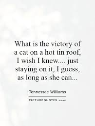 what is the victory of a cat on a hot tin roof i wish i knew  what is the victory of a cat on a hot tin roof i wish i