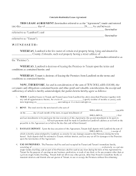 Format Of Lease Agreement Downloadable Rental Lease Agreement Template Example Vmd 16
