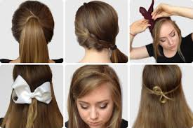 Hairstyles For School Step By Step Women Simple Step By Step Hairstyles Step By Step Hair Updos Long