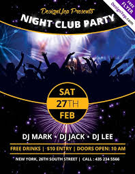 nightclub flyers nightclub party free psd flyer template nightclub flyers tout
