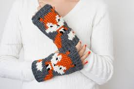 Crochet Fox Pattern Delectable Fox Fingerless Gloves Crochet Pattern One Dog Woof