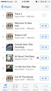 Taylor Swift Itunes Chart Taylor Swift Accidentally Releases 8 Seconds Of White Noise