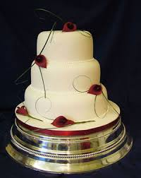 Pink Wedding Gown Simple Wedding Cake Designs
