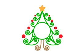 The free svg snowman snowflake initial monogram stencil cut files are available for free in my offering svg jpeg stencil cut files and cut file bundles that are great for cutting on cricut, and silhouette cutting machines. Christmas Tree Monogram Frame Svg Cut File By Creative Fabrica Crafts Creative Fabrica