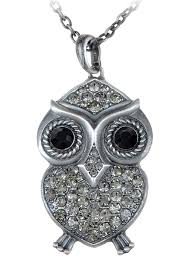loading zoom abstract big fat owl bird silver tone clear crystal rhinestone pendant necklace