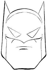Small Picture Coloring Pages Printable Batman Mask Super Heroes Coloring pages