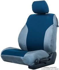 blue and grey cordura custom seat cover