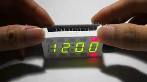 creative simple 4 digit diy digital led clock kit white desktop electronic mini clock you