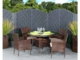 garden dining table and chairs 4 rattan garden chairs and small round dining table set in