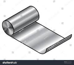 sheet metal roll roll sheet metal stainless steel aluminium stock vector 107662760