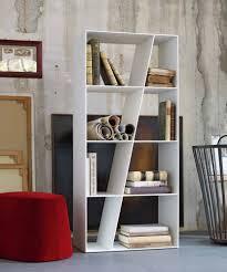 modern white bookshelf  interior design ideas