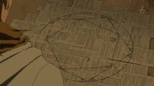 fullmetal alchemist brotherhood gin no dangan when put together the notes show the transmutation circle that was found on the map unfortunately yorki sneezes and they re blown over