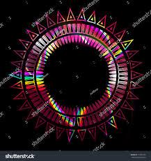 Light Bright Patterns Vector Abstract Black Patterns Bright Light Stock Vector