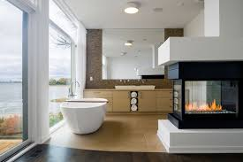 ... Charming Images Of Bathroom Decoration With Fireplace In Bathroom :  Charming Modern Bathroom Decoration Using Modern ...