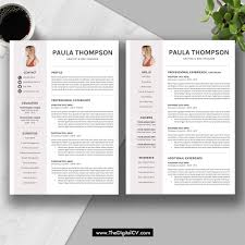 Word Template Cv 2019 Modern Resume Template Word Cv Template Cv Sample Cover