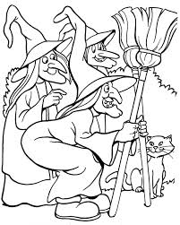 Small Picture Printable Halloween Coloring Page three witches