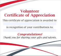 11+ Volunteer Certificate Templates | Sample Templates