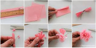 How To Make Flower From Tissue Paper Diy Mini Tissue Paper Flowers Bouquet Diy Inspired
