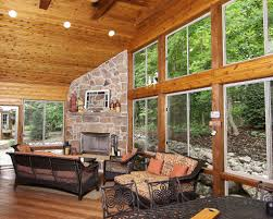 posh tumbled stone fireplace
