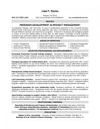 Fundraising Officer Sample Resume Impressive Project Director Resume Sample On Non Profit Program Job 19