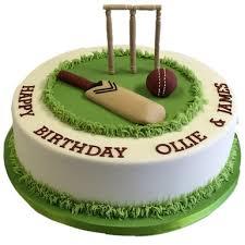 Cricket Pitch Fondant Cake Winni