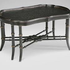teal chinoiserie square coffee table