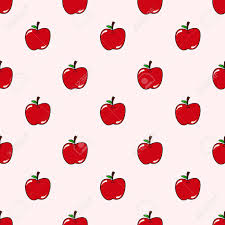 Apple Pattern Beauteous Seamless Cute Apple Pattern Background Royalty Free Cliparts