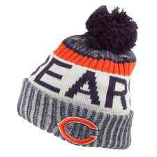 Chicago Sideline Bears Bobble - Era Hat Nfl New Navy
