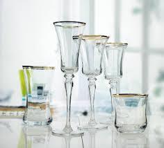 gold rim wine glass 1
