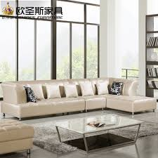 barcelona silver modern corner l shape sectional cow leather sofa set designs and s new 2016
