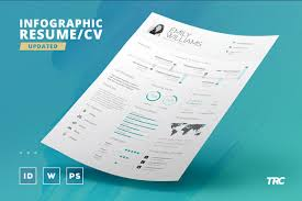 Infographic Cv Resume Template Free Download Resumekraft