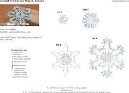 Crochet Snowflake Pattern Chart Crochet Snowflake Pattern For Video 31
