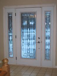replacement front doorsFrosted Glass White Front Door Design For Home  Decofurnish