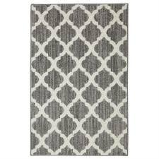 mohawk home tufted trellis 3 x 4 grey rectangular throw rug