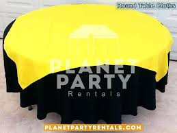 yellow round tablecloths black round tablecloth with overlay yellow gingham tablecloth round