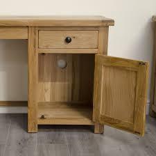 original rustic solid oak furniture small computer desk model ruscds