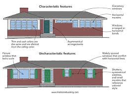 Interesting read on the appropriate window types for ranch style homes.  Brickman house seems to be a weird combo.