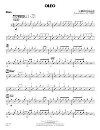 Oleo Drums By Sonny Rollins Digital Sheet Music For Jazz