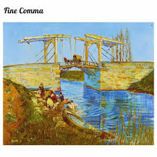 2018 the langlois bridge at arles by vincent van gogh hand painted oil painting reion replica wall art canvas painting repro from hero zhangpeng