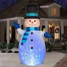 details about huge 12 inflatable snowman frosty kaleidoscope lights outdoor decor