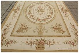 aubusson rug 6 7 x10 pastel gold ivory