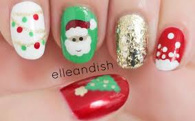 ☃ Easy Christmas Nails (Freehand) ☃ - YouTube