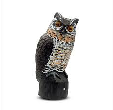 jdm defense electronic motion activated solar powered sensor scarecrow owl realistic owl jdm supply garden tools garden accessories garden ornaments