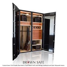 this custom safe is a large double door model that combines the features of both a high security safe and a luxurious home safe