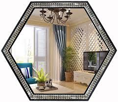 Bilder für wohnzimmer, ob abstrakt oder modern. Amazon De Mirror Home Moderner Spiegel Fur Wohnzimmer Badezimmer 60 X 52 Cm Polygon