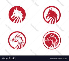 template of a dragon head dragon logo template royalty free vector image