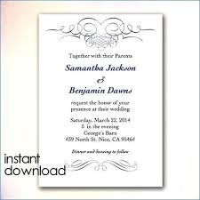 Invitation Card Template Word Free Printable Download Engagement