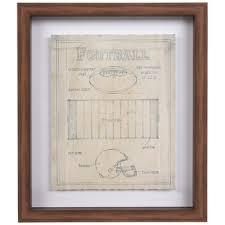 football blueprints framed wall decor