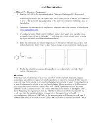 Acid Base Extraction Chem 2101 Organic Chemistry 1 Studocu